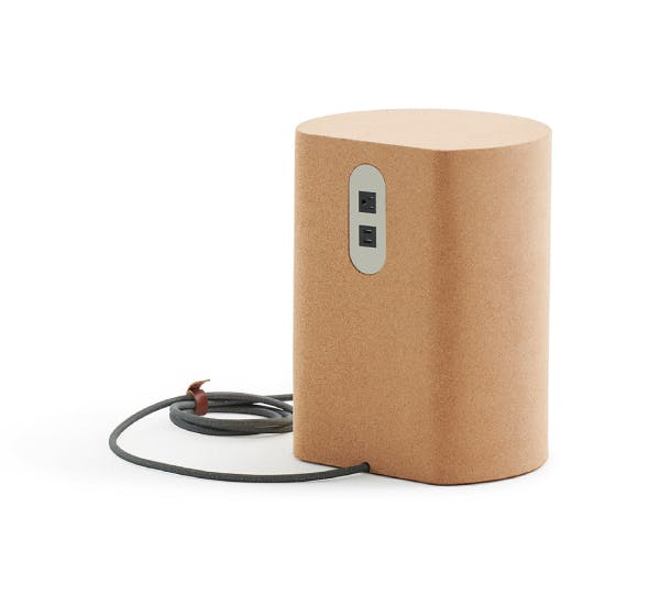 Phase Cork Side Table with Power